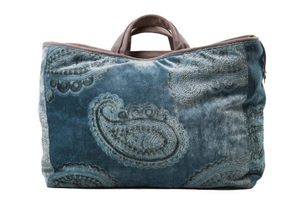 Paisley leather light blue