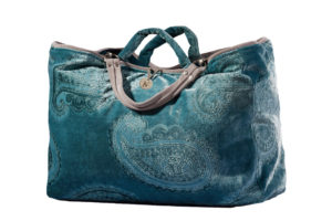 Paisley leather turquoise